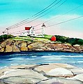 Nubble Lighthouse Maine Poster by Scott Nelson