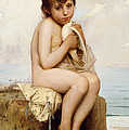 Nude Child with Dove by Leon Bazile Perrault