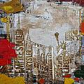 NY City Collage 7 Print by Corporate Art Task Force