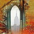 NYC Abstract Collage Print by Anahi DeCanio