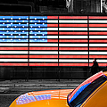 NYC cab yellow times square Poster by John Farnan