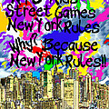 NYC Kids' Street Games Poster by BRUCE IORIO