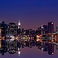 NYC Skyline New York City USA Print by Sabine Jacobs