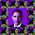 Obama Abstract Window 20130202m88 Poster by Wingsdomain Art and Photography