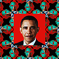 Obama Abstract Window 20130202p0 Print by Wingsdomain Art and Photography
