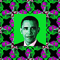 Obama Abstract Window 20130202p128 Print by Wingsdomain Art and Photography