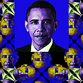Obama Abstract Window 20130202verticalm118 Poster by Wingsdomain Art and Photography