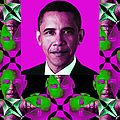 Obama Abstract Window 20130202verticalm60 Poster by Wingsdomain Art and Photography