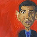 Obama Caricature Print by Isaac Walker