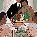 Obama Thanksgiving Print by Jaymes Thompson