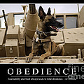 Obedience Inspirational Quote Poster by Stocktrek Images