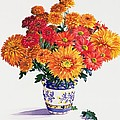 October Chrysanthemums Poster by Christopher Ryland