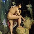 Oedipus and the Sphinx Print by Ingres