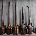 Oil Can Collection Poster by Debra and Dave Vanderlaan