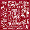 Oklahoma College Colors Subway Art Poster by Replay Photos