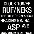 Oklahoma College Town Wall ARt Print by Replay Photos