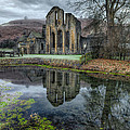 Old Abbey Print by Adrian Evans