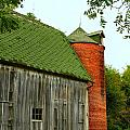 Old Barn with Brick Silo II Poster by Julie Dant