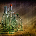 Old Bottles Print by Veikko Suikkanen