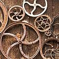 Old Gears in Genoa Nevada Print by Artist and Photographer Laura Wrede
