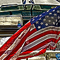 Old Glory And The Bay Print by Tom Gari Gallery-Three-Photography
