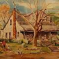 old home  Poster by Lynn Beazley Blair