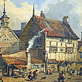 Old Houses and St Olaves Church Print by George Shepherd
