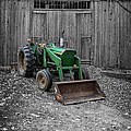 Old John Deere Tractor Poster by Edward Fielding