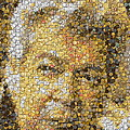 Old Man Coin Mosaic Poster by Paul Van Scott