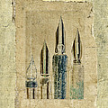 Old Pens Old Papers Print by Carol Leigh