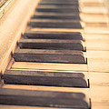 Old Piano Keys Print by Edward Fielding