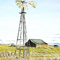 Old Ranch Windmill Poster by Steve McKinzie