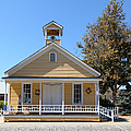 Old Sacramento California Schoolhouse 5D25541 Print by Wingsdomain Art and Photography