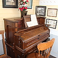 Old Sacramento California Schoolhouse Piano 5D25783 Print by Wingsdomain Art and Photography
