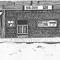 Old Saloon Print by Donald Curry