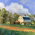 Old Saunders Barn Print by Jeff Brimley