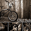 Old School BMX - PK Collage BW Print by Jamian Stayt