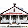 Old Schoolhouse Chester Springs Print by Bill Cannon