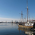 Old Ship in Calm Water Harbor Poster by Kiril Stanchev