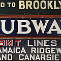 Old Subway Signs Print by Dave Mills