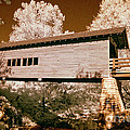 Old time covered bridge Print by Paul W Faust -  Impressions of Light