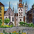 Old Town Hall Munich Germany Print by Irina Sztukowski