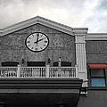 Old Town Temecula - The Clock Print by Glenn McCarthy Art and Photography