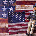 Old Uncle Sam and Flag Poster by Garry Gay
