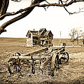 Old Wagon And Homestead Print by Athena Mckinzie