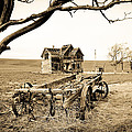 Old Wagon and Homestead II Poster by Athena Mckinzie