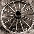 Old Wagon Wheel Print by Olivier Le Queinec