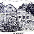Old Water Mill Print by Frederic Kohli