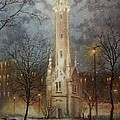 Old Water Tower Milwaukee Print by Tom Shropshire