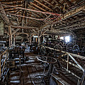 OLD WEST WAGON STORAGE and SHOP Print by Daniel Hagerman
